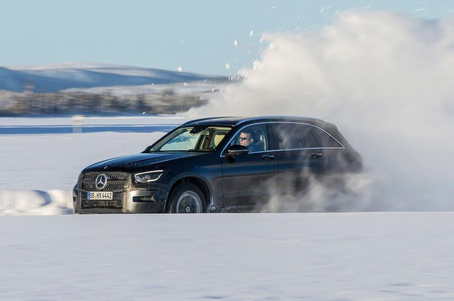 Mercedes-Benz GLC 300 2019 prototype drive - snowdrift