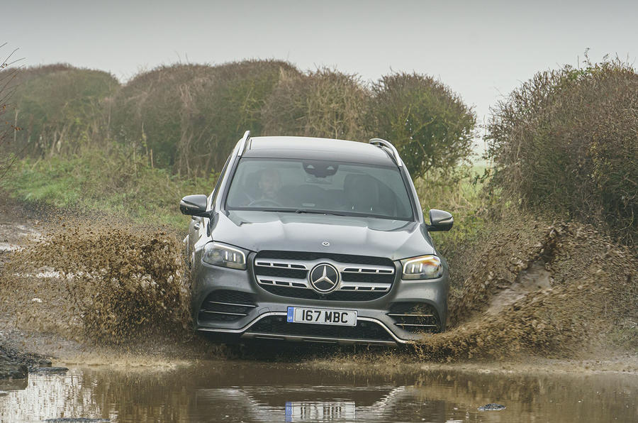 Mercedes-Benz GLS 400d 2019 UK first drive review - offroad front