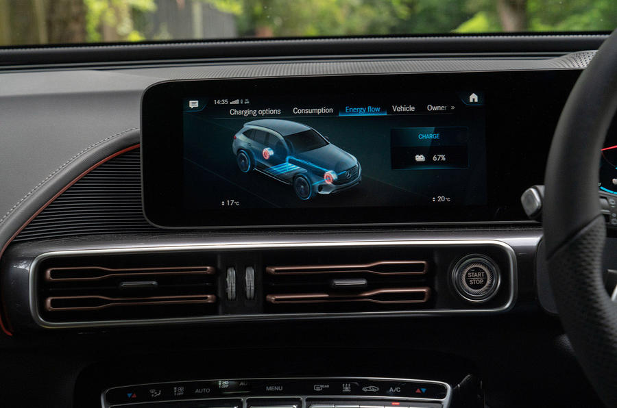 Mercedes-Benz EQC 400 2019 UK first drive review - infotainment