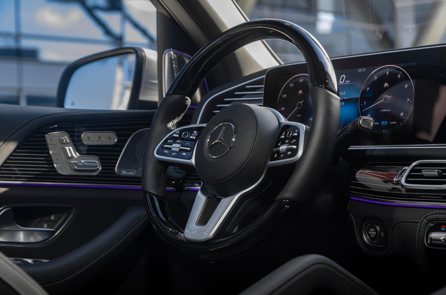 Mercedes-Maybach GLS 600 2020 first drive review - steering wheel