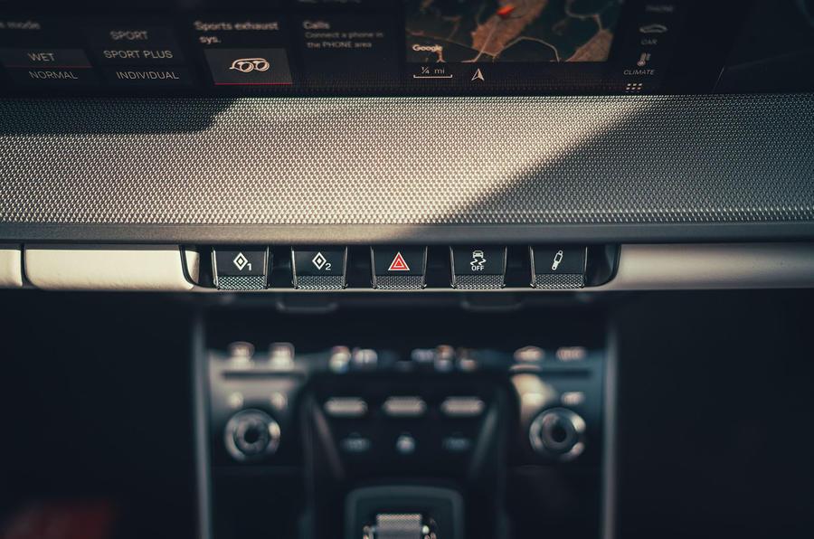 Porsche 911 Carrera 4S 2019 UK first drive review - dashboard buttons