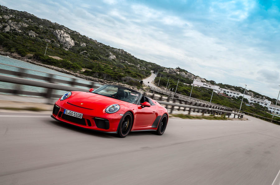 Porsche 911 Speedster 2019 first drive review - on the road nose