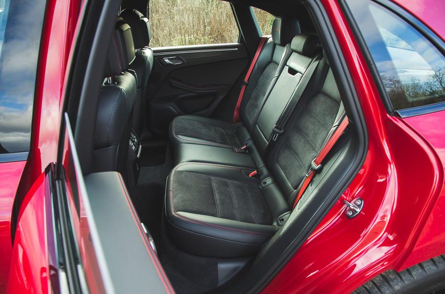 Porsche Macan GTS 2020 UK first drive review - rear seats