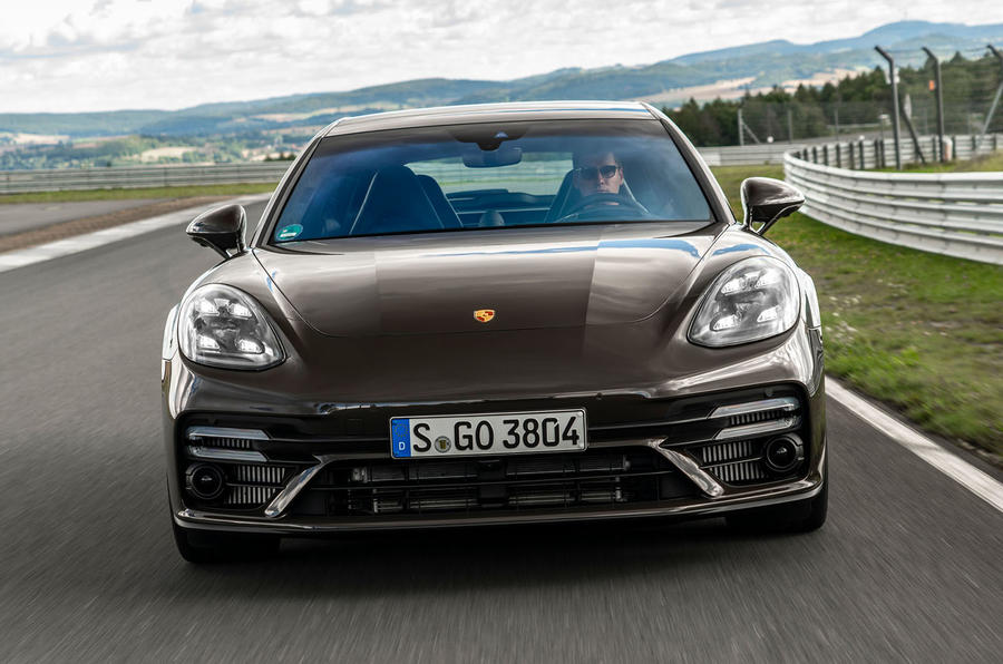 Porsche Panamera Turbo S Sport Turismo 2020 first drive review - on the road nose