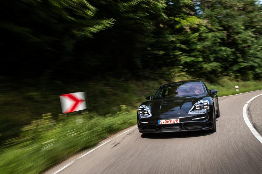Porsche Taycan 2020 first drive review - road driving front