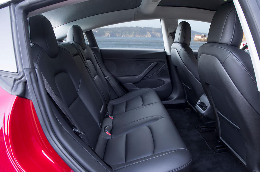 Tesla Model 3 2018 review rear seats
