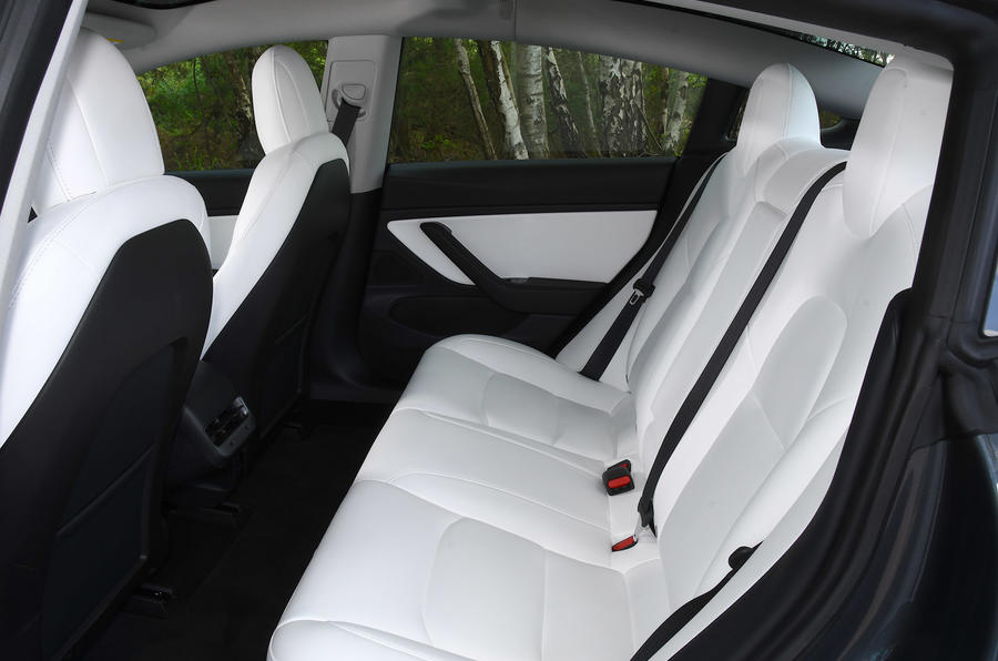 Tesla Model 3 Performance 2019 UK first drive review - rear seats