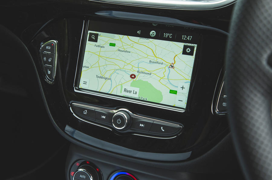 Vauxhall Corsa GSi 2018 UK first drive review infotainment