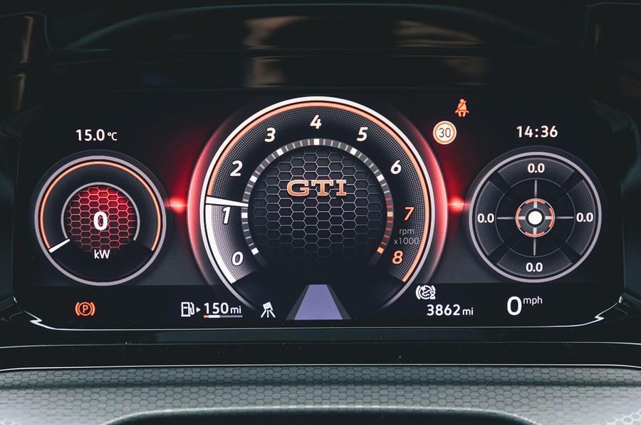 Volkswagen Golf GTI 2020 UK first drive review - instruments