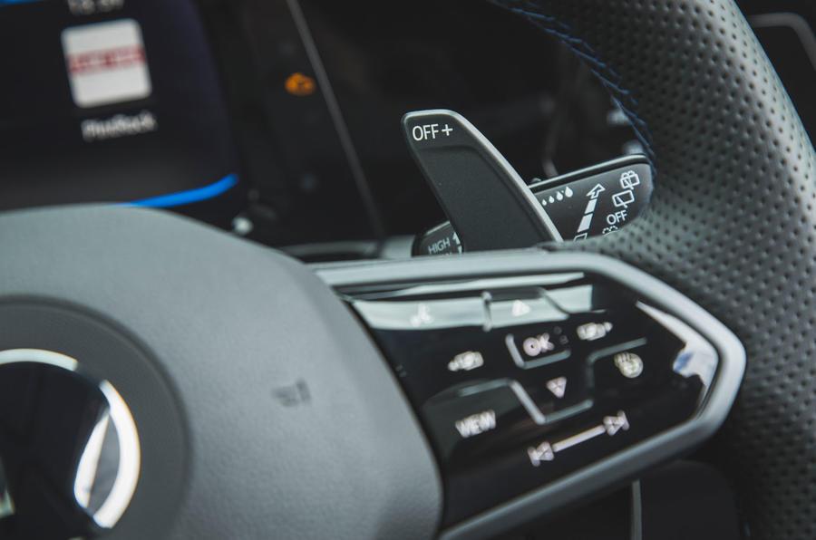 12 Volkswagen Golf R performance pack 2021 UE FD palettes de changement de vitesse