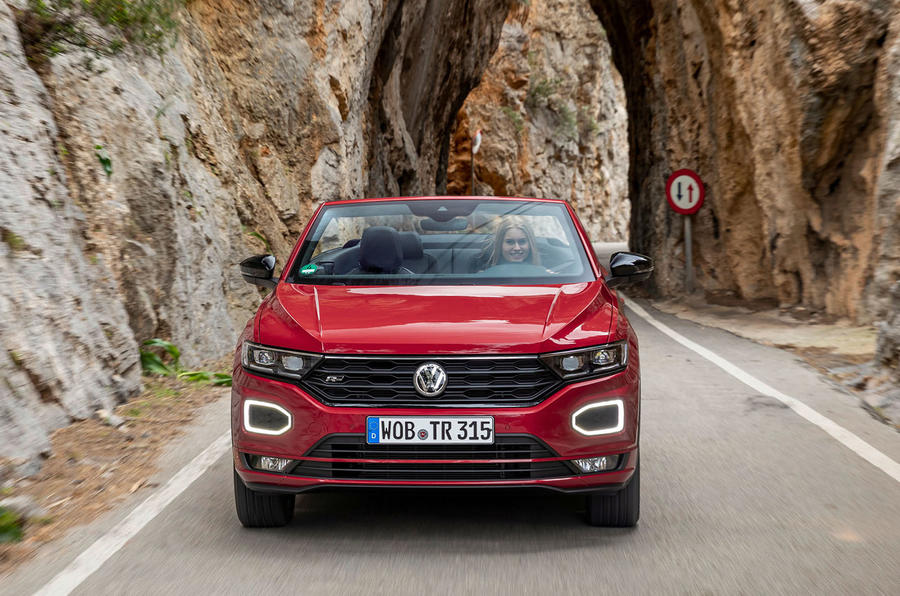 Volkswagen T-Roc Cabriolet 2020 first drive review - on the road nose