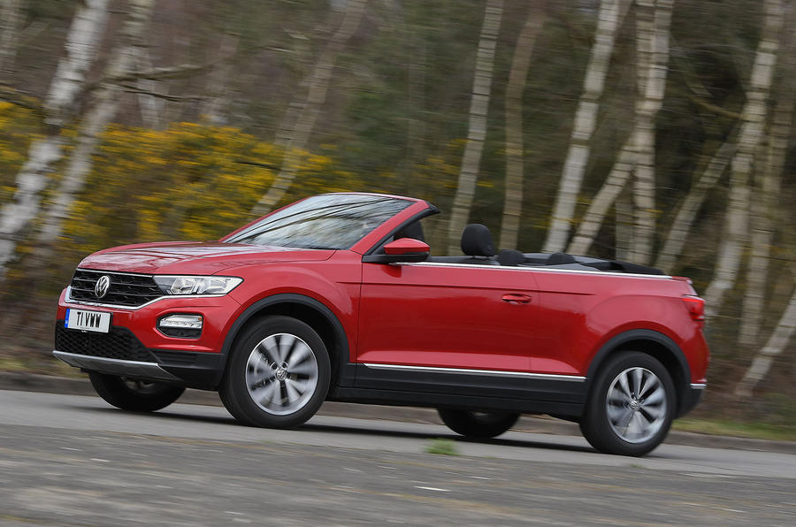 Volkswagen T-Roc Cabriolet 2020 UK first drive review - on the road side