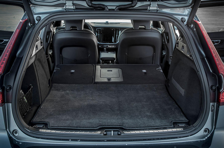 Volvo V60 Cross Country 2019 first drive review - boot with seats folded