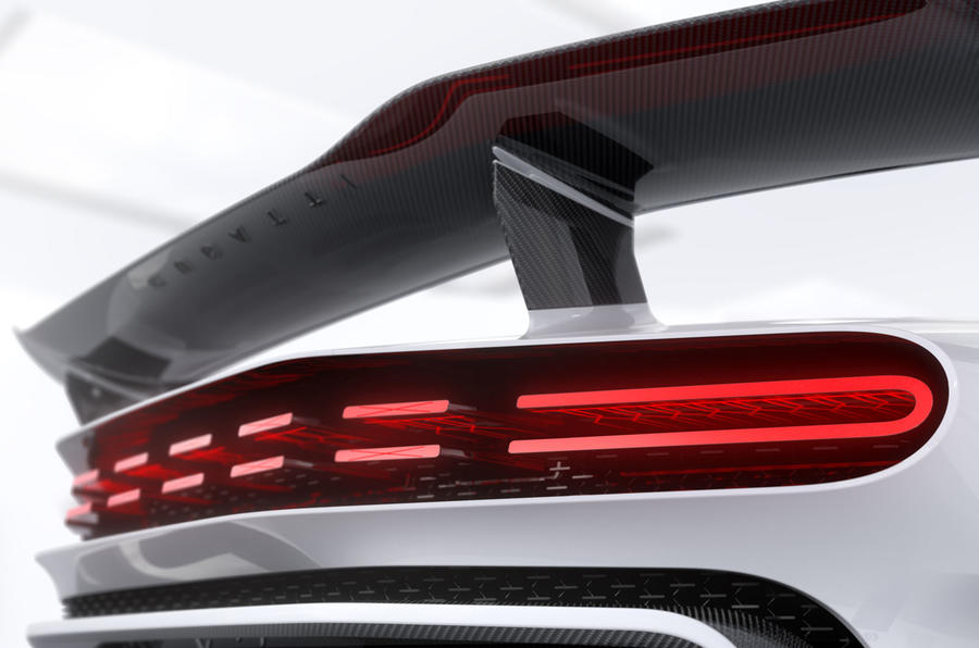 2020 Bugatti Centodieci reveal - rear light