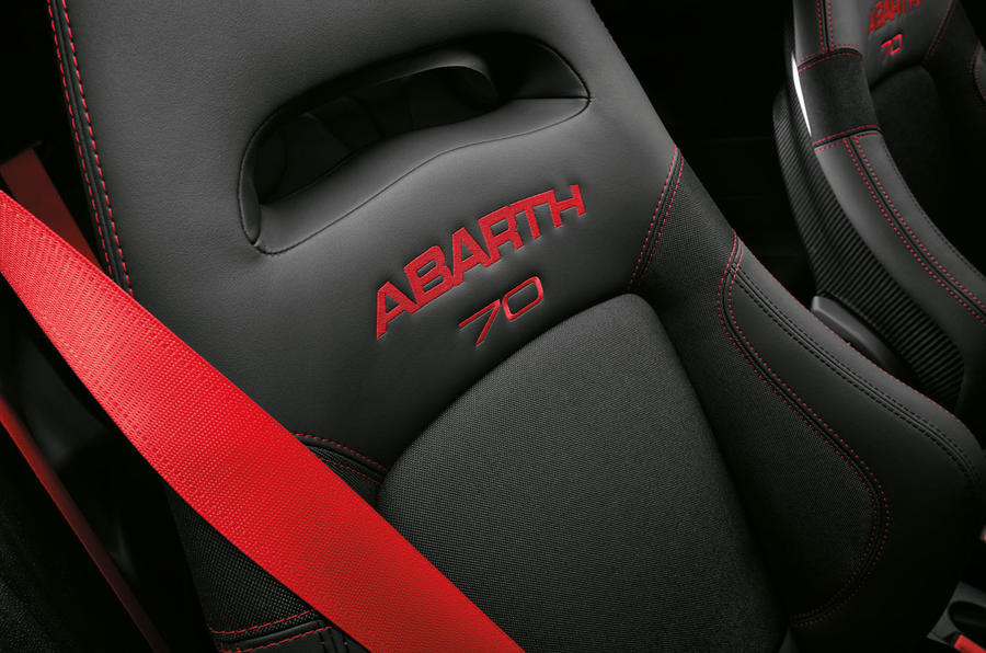 Abarth 595 Essesse 2019 first drive review - seat details