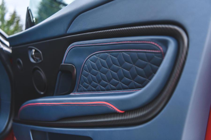 Aston Martin DBS Superleggera 2018 first drive review door cards