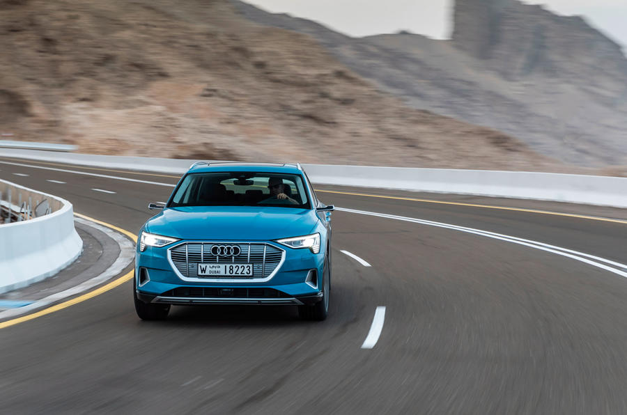 Audi E-tron quattro 2018 first drive review - on the road nose