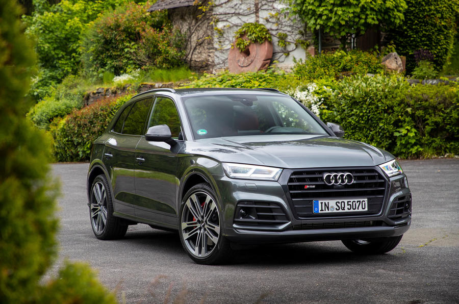 Audi SQ5 2019 first drive review - static front