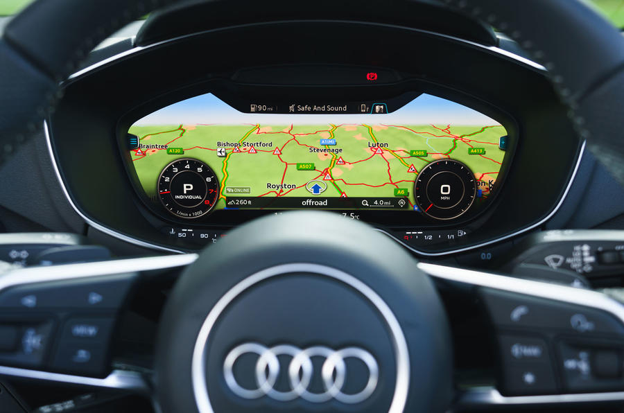 Audi TT Roadster 2019 UK first drive review - virtual cockpit