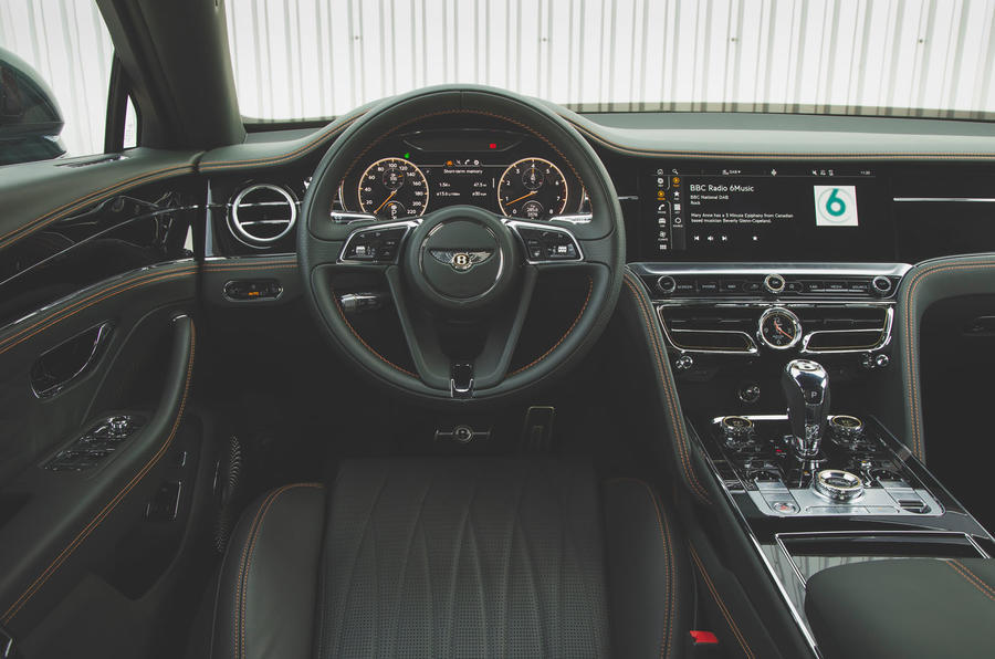 Bentley Flying Spur 2020 UK first drive review - dashboard