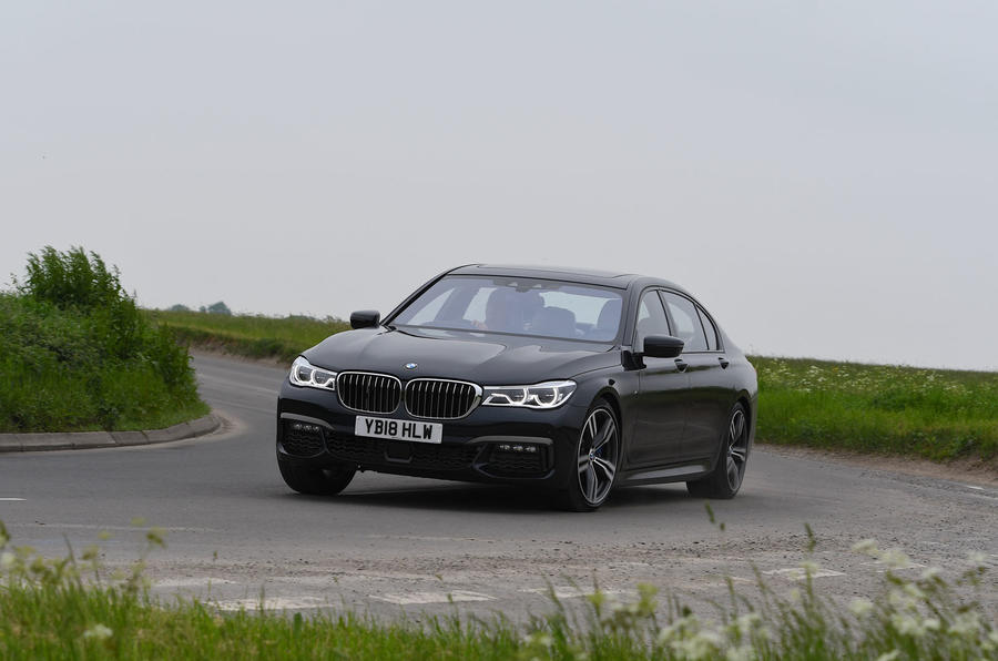 BMW 7 Series 740Ld long-term review cornering front