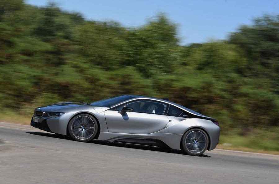 BMW i8 Coupe 2018 UK first drive review on the road side