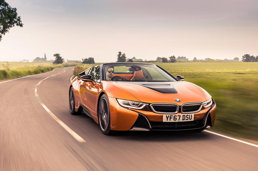 BMW i8 Roadster 2018 UK first drive review - on the road front