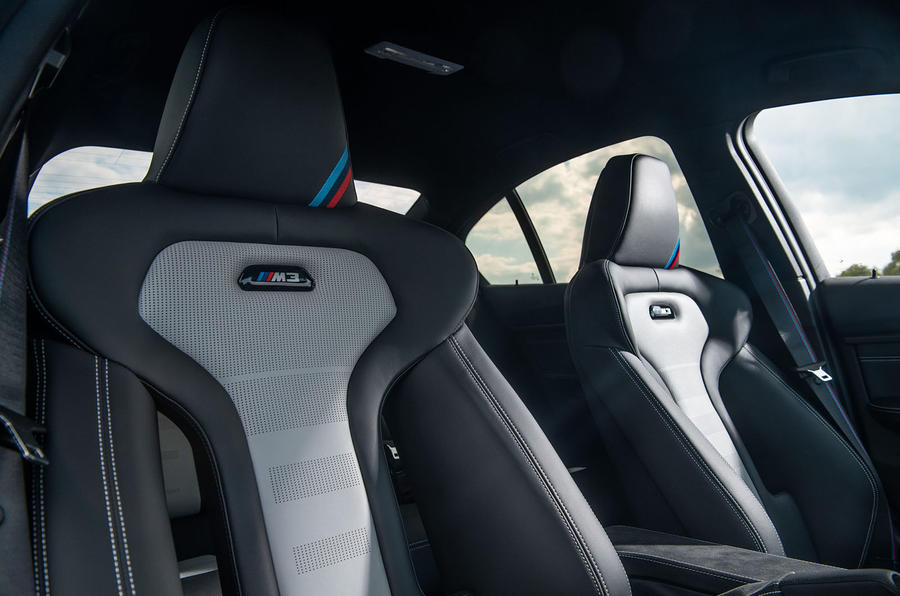 BMW M3 CS 2018 review front seats