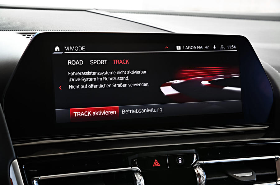 BMW M8 Competition Coupé 2019 first drive review - infotainment
