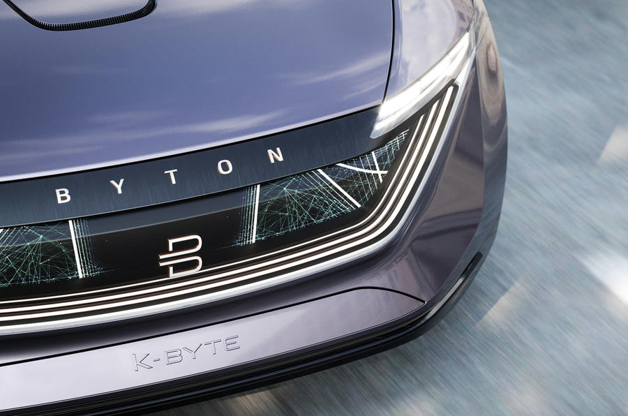 Byton K-Byte saloon concept smart surface front bumper