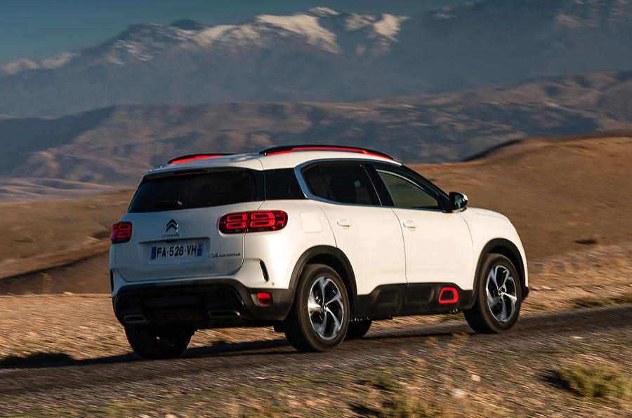 Citroen C5 Aircross 2018 first drive review - on the road rear