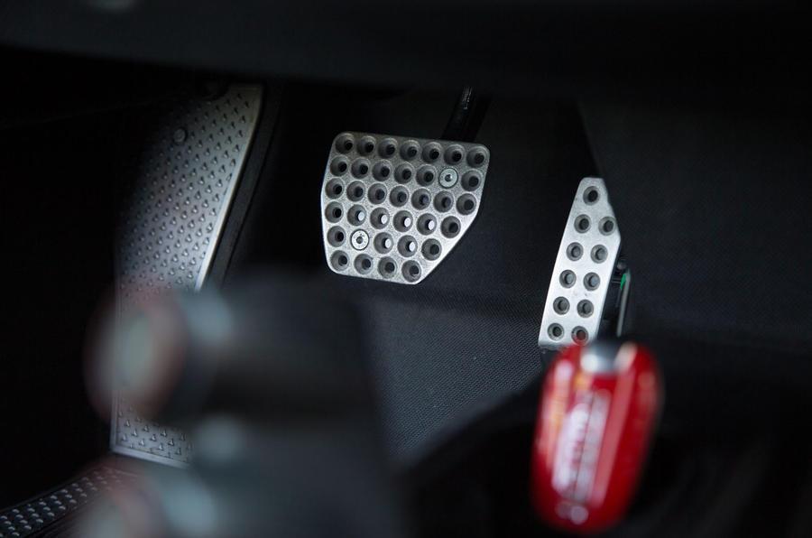 Ferrari 488 Pista 2018 review pedals