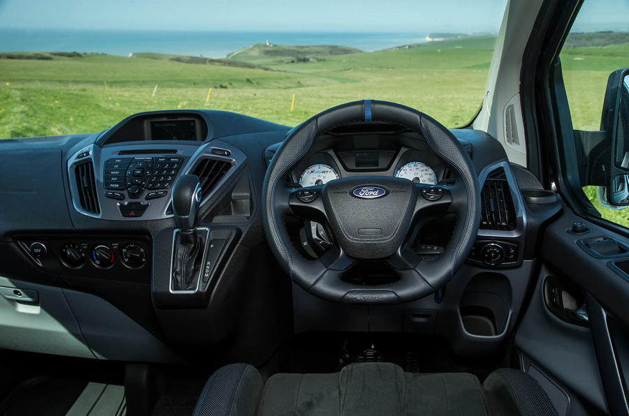 Ford Transit MS-RT custom review dashboard