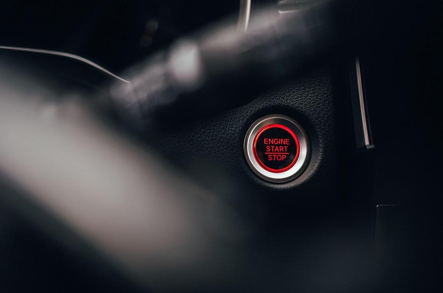 Honda CR-V 2018 first drive review start button