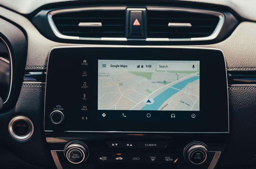 Honda CR-V hybrid 2019 first drive review - infotainment sat-nav
