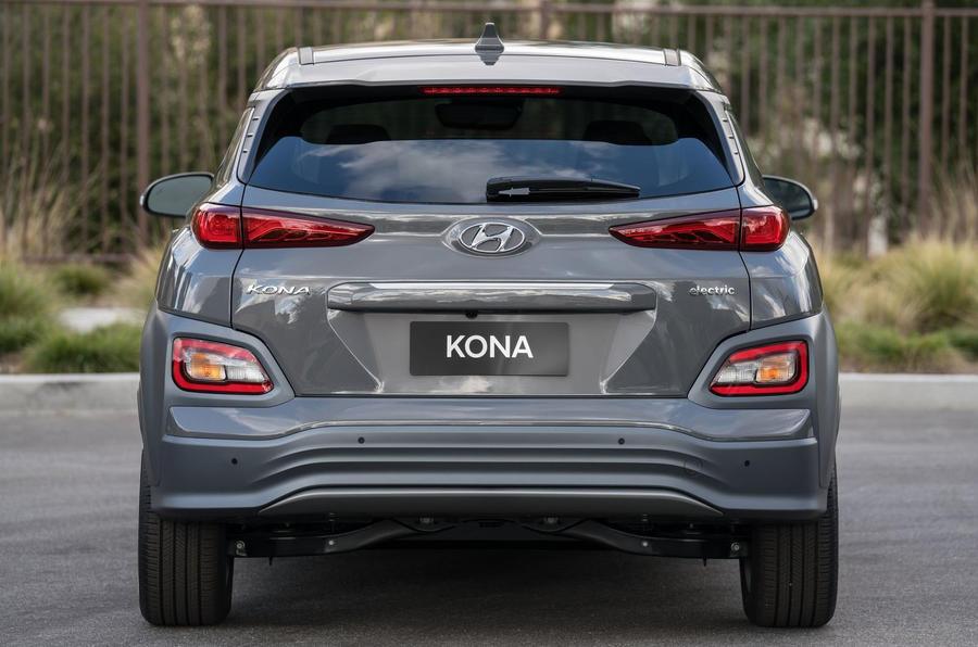 Hyundai Kona Electric 2018 first drive review static rear