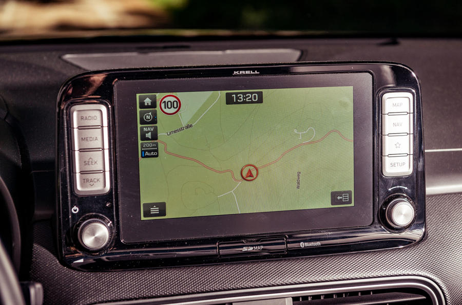 Hyundai Kona EV prototype drive 2018 infotainment