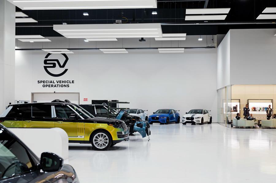 Jaguar Land Rover SVO division workshop