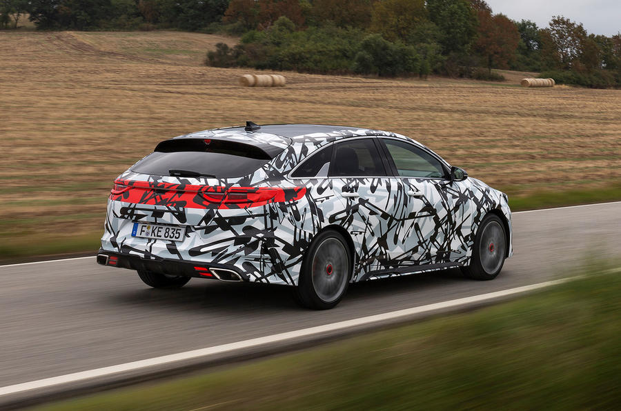 Kia Proceed GT 2018 prototype drive on the road rear