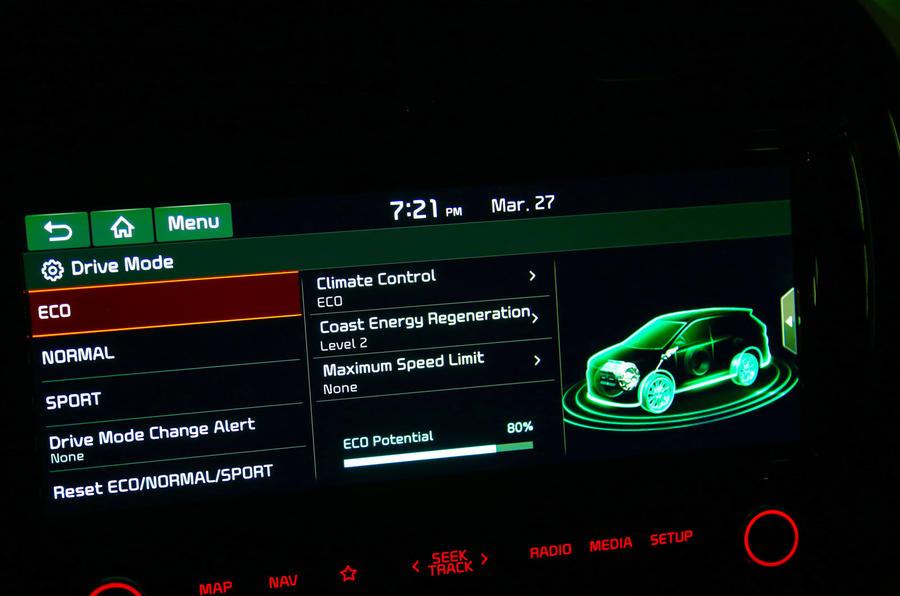 Kia Soul EV 2019 first drive review - settings