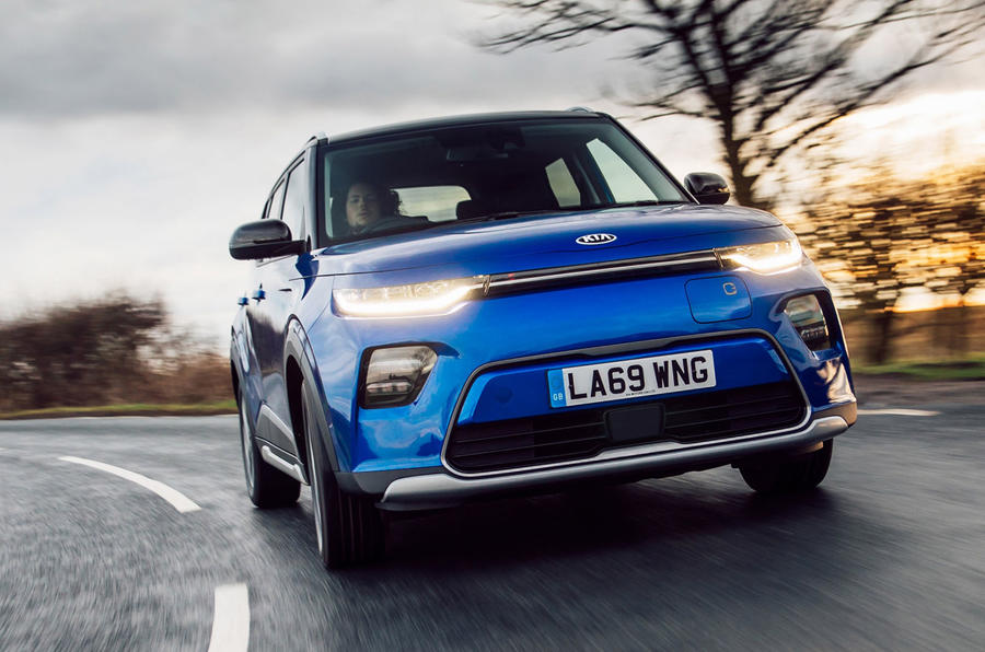 Kia Soul EV 2020 UK first drive review - on the road nose