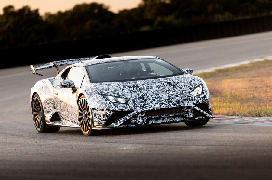 Lamborghini Huracan STO 2020 first drive review - cornering front
