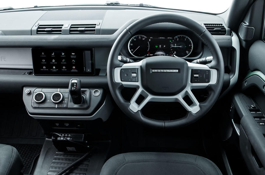 Land Rover Defender 110 S 2020 first drive review - steering wheel