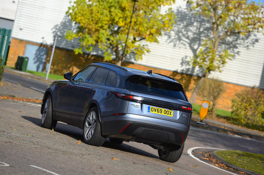 Land Rover Range Rover Velar 2019 UK first drive review - cornering rear