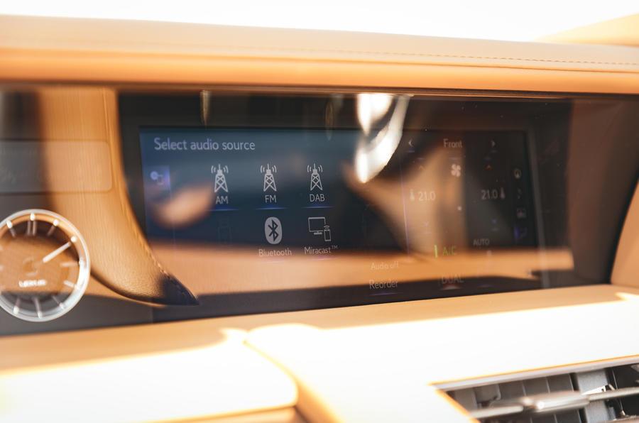 Lexus LC Convertible 2020 UK first drive review - infotainment