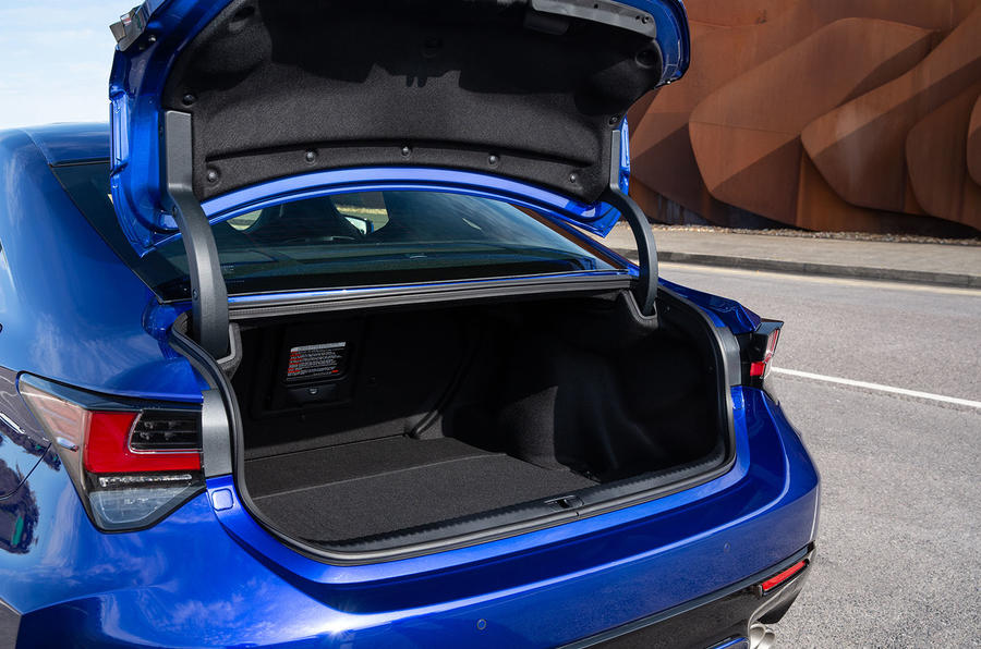 Lexus RC F with track pack 2019 first drive review - boot