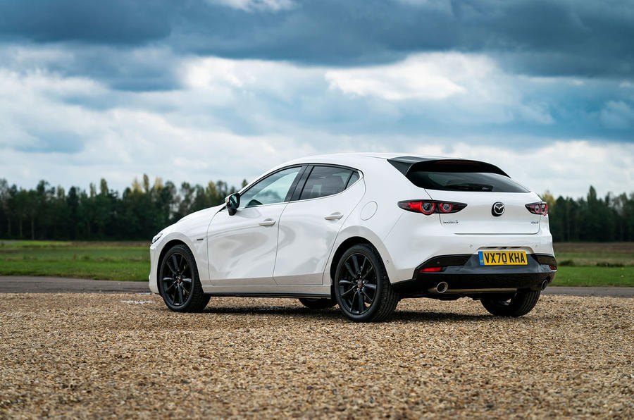 Mazda 3 100th Anniversary edition 2020 UK first drive review - static rear