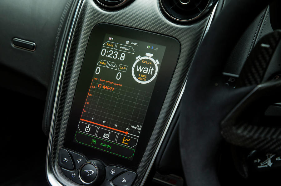 McLaren 570S Spider Track Pack 2018 UK review infotainment