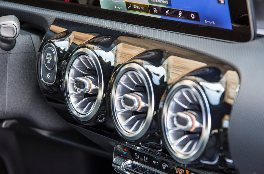 Mercedes-AMG A35 2018 first drive review - air vents
