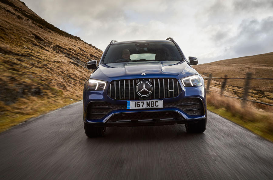 Mercedes-AMG GLE 53 2020 UK first drive review - on the road nose